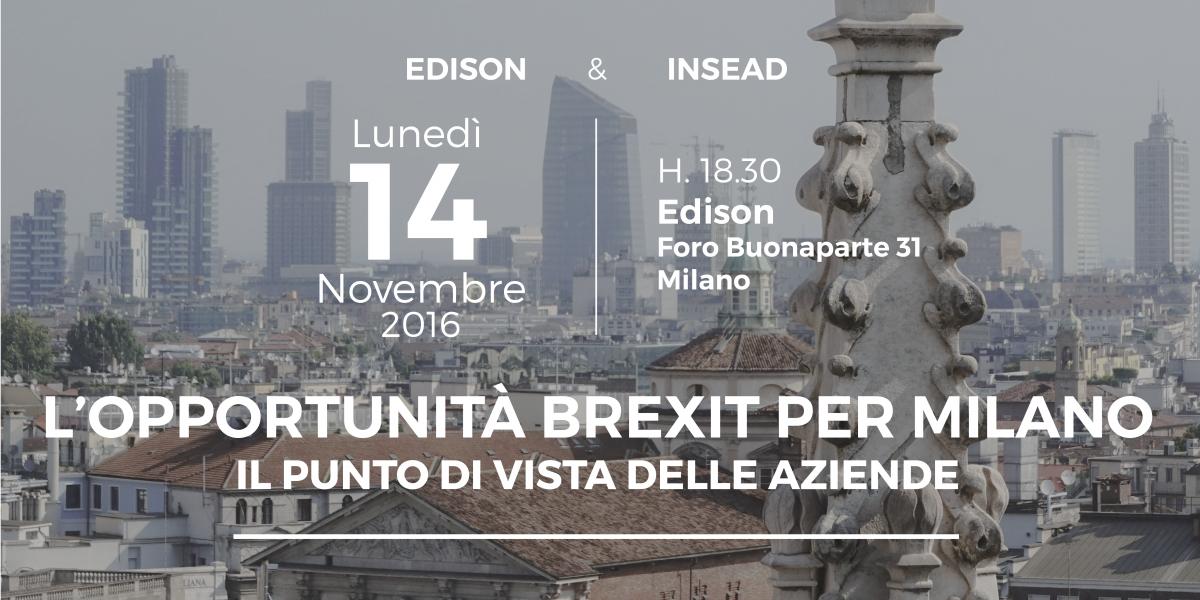 L'opportunità Brexit per Milano